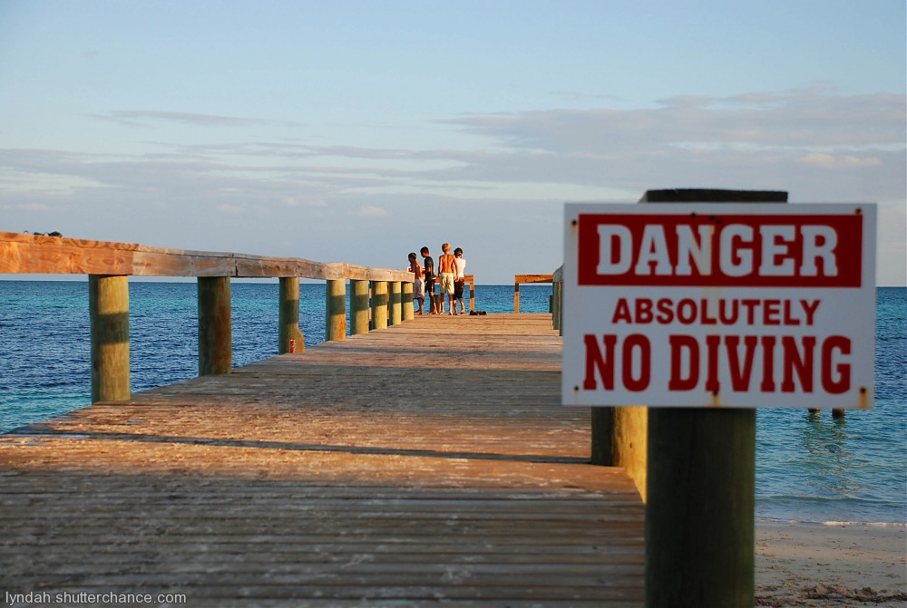 photoblog image No Diving